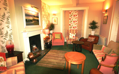 The Front Lounge at Pen-y-Dyffryn Country Hotel, Shropshire